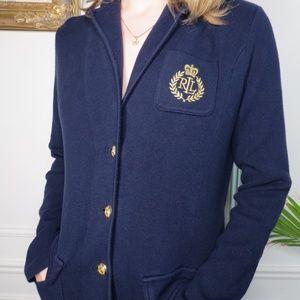 Ralph Lauren Knit Sweater Blazer